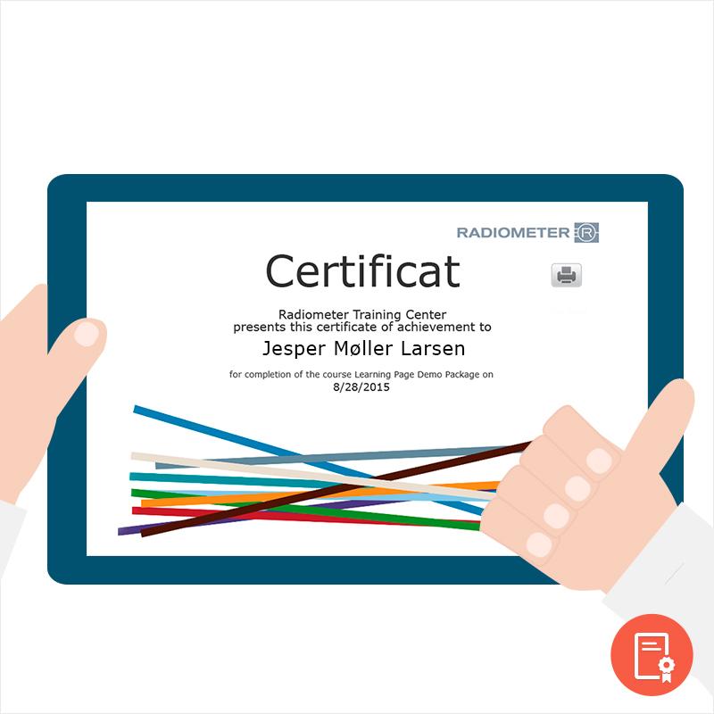 Certifikat bestået