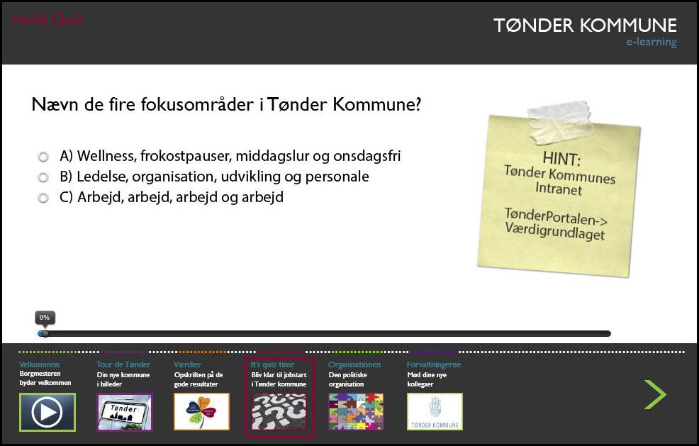 Tønder Kommune introduktion til nye medarbejdere
