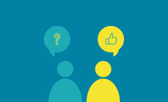 spørg dine modtagere feedback
