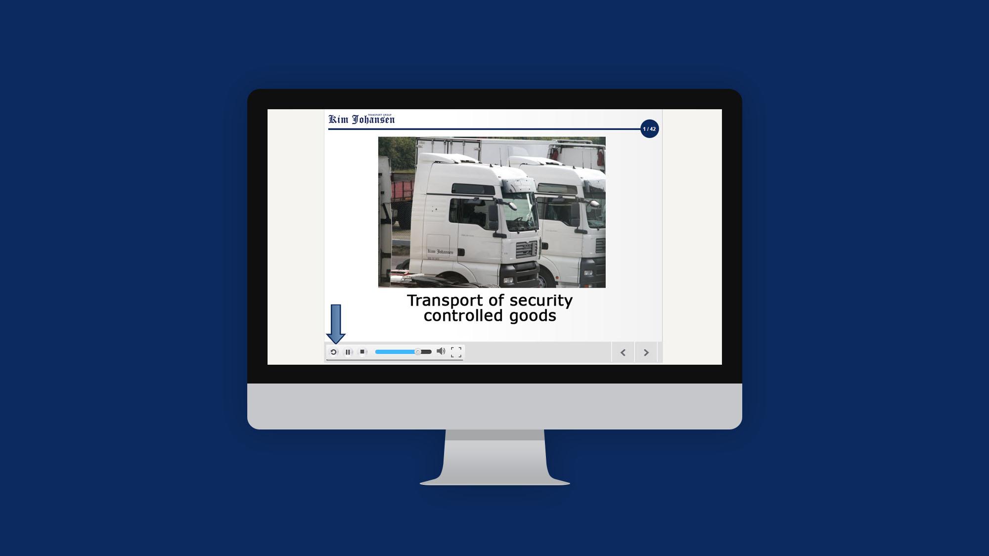 Kim Johansen e-læring til vognmænd om årlig test til fornyelse af id kort
