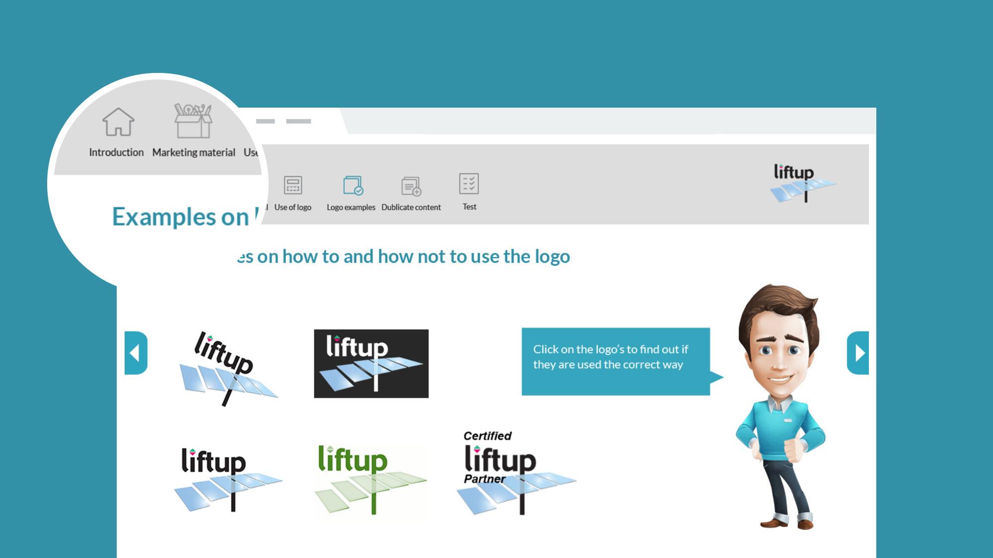 Liftup e-læring om Brandbook